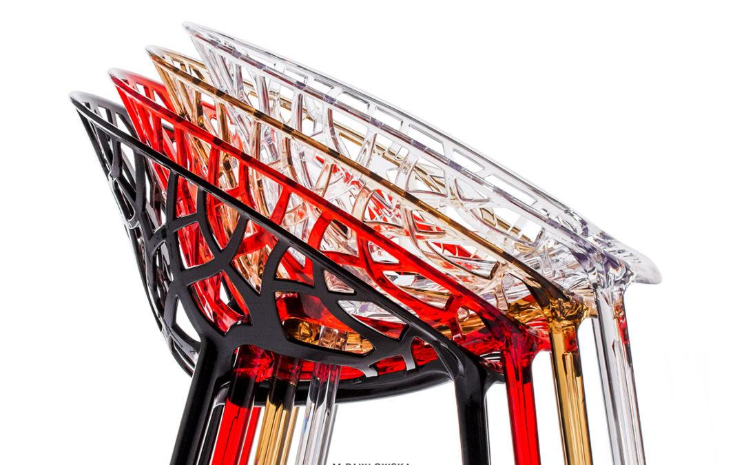 nowoczesne krzesła designerskie – fotografia produktowa PACKSHOT